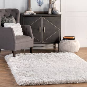 Ivory Terrace Fluffy Speckled Shag rug - Shags Rectangle 9' 6in x 13' 6in at RugsBySize.com
