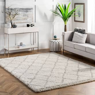 Natural Erim Soft Trellis Shag rug - Geometric Rectangle 10' x 14' at RugsBySize.com