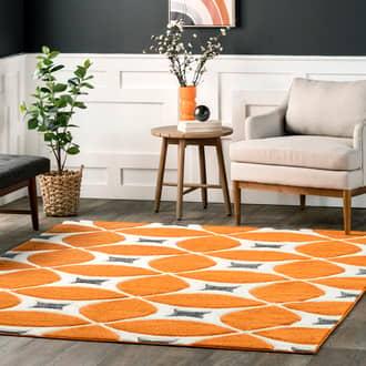 Deep Orange Radiante Mod Trellis rug