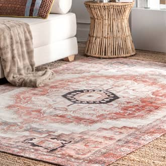 "Multi Mysteria Iris Medallion Flatweave rug - Traditional Rectangle 9' 10"" x 13' Product Image"