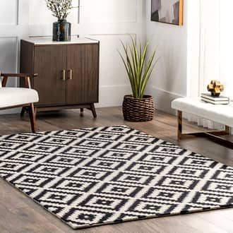 Black Tuscan Scandinavia Diamond rug - Contemporary Rectangle 12' x 15' Product Image