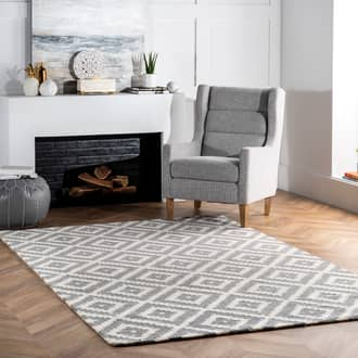Gray Tuscan Scandinavia Diamond rug - Contemporary Rectangle 12' x 15' Product Image