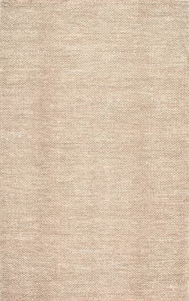 Nome Hand Woven Cotton Casual Solid Beige Rug