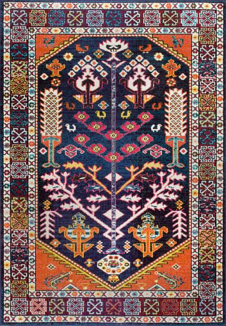 Chroma Tribal Tree Of Paradise Medallion Rug Bohemian Rug