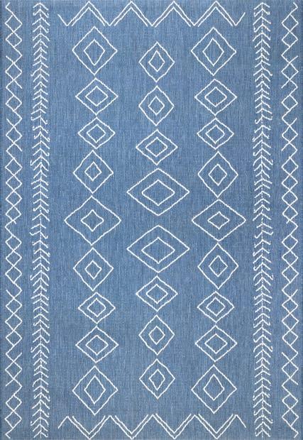 Aperto Moroccan Diamonds Indoor Outdoor, 6×9 Indoor Outdoor Area Rugs