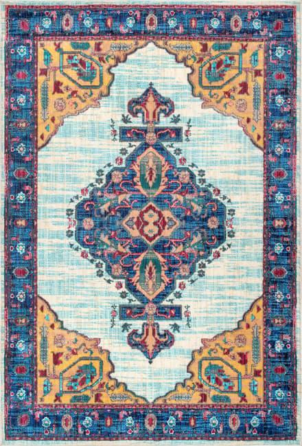Stamford Floral Hex Medallion Rug Egyptian Rug Floral Rug