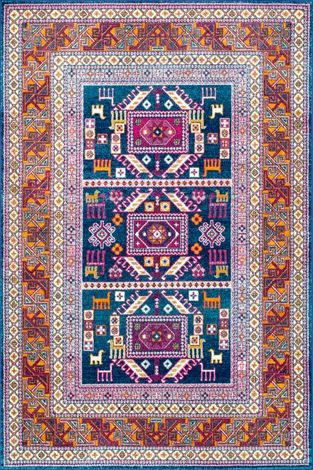 Bosphorus Tribal Tale Triptych Rug by Rugs Usa