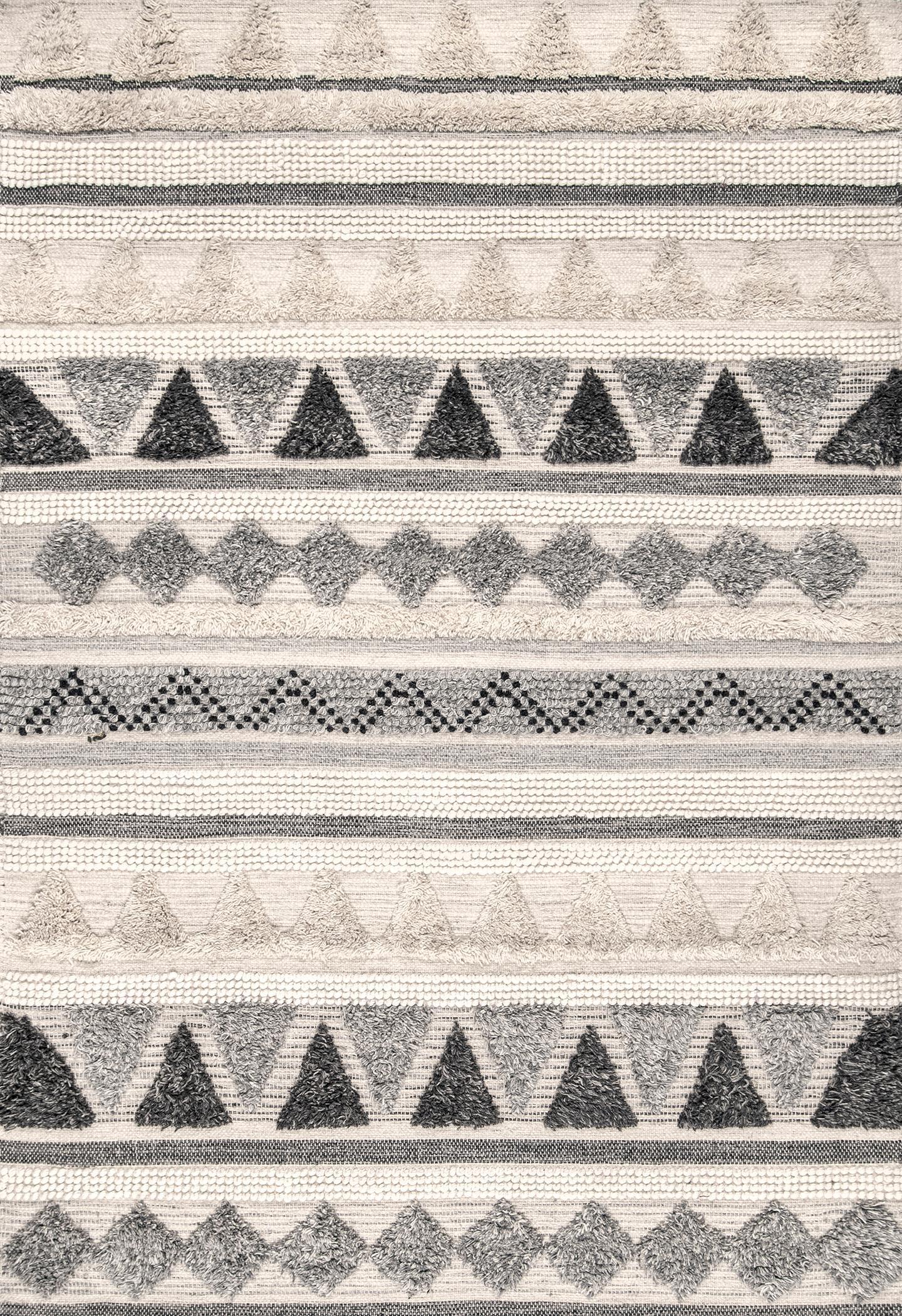 Hemera Shaggy Tribal Texture Rug by Rugs Usa