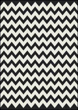 Black And White Pattern Rug Home Decor