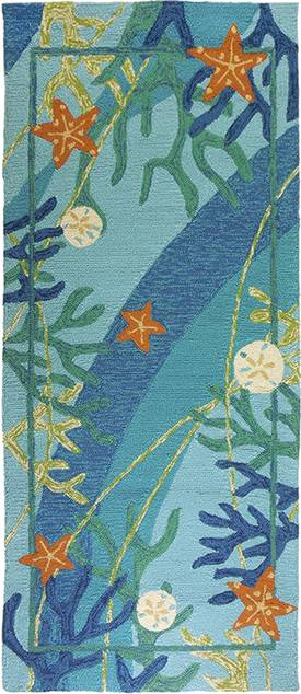 Homefires Rugs Underwater Coral & Starfish Outdoor