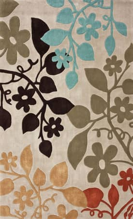 Rugs USA Bold Leafy Flowers