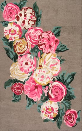 Rugs USA PE01 Hand Hooked Beautiful Rose Bouquet