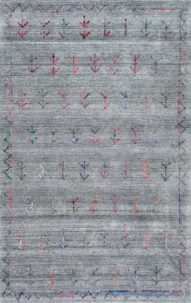 Rugs USA KS01 Hand Tufted Tribal Arrowhead Border