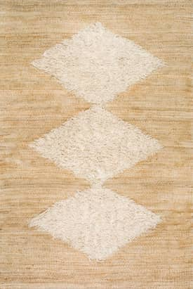 Rugs USA NK01 Wool Tufted Diamond Jute