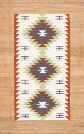 Rugs USA NK02 Tribal Jute Border Kilim
