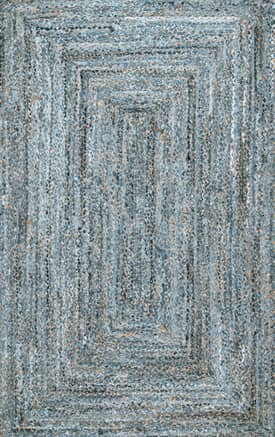 Rugs USA DR01 Hand Braided Denim And Jute Interwoven Solid