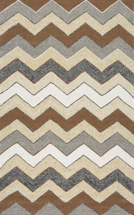 Rugs USA VE21 Hand Hooked Bengal Chevron Outdoor