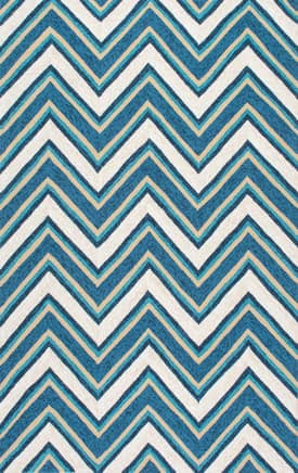 Rugs USA VE22 Hand Hooked Bayadere Chevron Outdoor