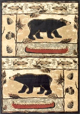 Rugs USA YS01 Bears In The Woods Lodge