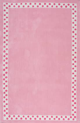 Rugs USA Solid EV27 Polka Dot Border