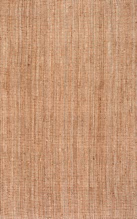 Rugs USA WA01 Handwoven Jute Ribbed Solid