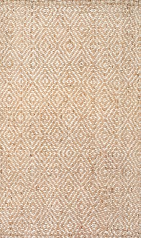 Rugs USA WA02 Handwoven Jute Birdseye Diamond