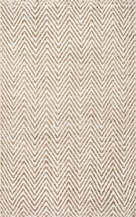 Rugs USA WA03 Handwoven Jute Jagged Chevron