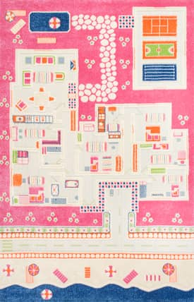 Rugs USA Playtime KW01 Beach House