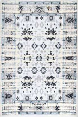 Rugs USA SM05A Distressed Florette Border