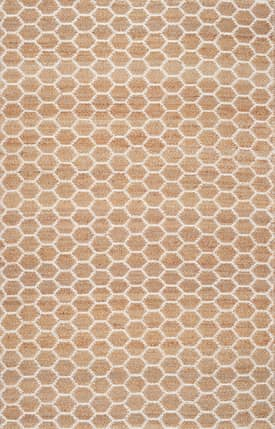 Rugs USA HS01 Hand Woven Jute Reversible Honeycomb