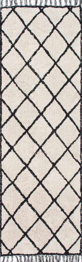 Rugs USA SC01 Hand Tufted Tasseled Wavy Trellis