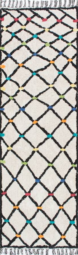 Rugs USA SC02 Hand Tufted Color Dotted Wavy Trellis