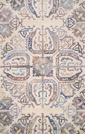 Rugs USA BD01 Hand Tufted Faded Herati Medallion