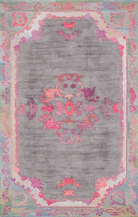 Rugs USA BD02 Hand Tufted Sunny Medallion Floral Border