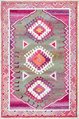 Rugs USA BD03 Hand Tufted Vivid Tribal Diamond Castle