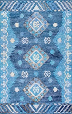 Rugs USA BD04 Hand Tufted Tribal Diamond Centerpiece