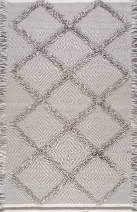 Rugs USA CN01 Embossed Frayed Diamond Trellis