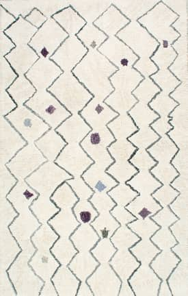 Rugs USA KL07 Hand Tufted Spotted Moroccan Zigzag Shag