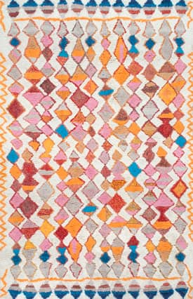 Rugs USA KL08 Hand Tufted Vibrant Moroccan Diamond Shag