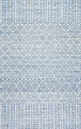 Rugs USA VZ01 Flatweave Barbed Moroccan Dotted Striped Border