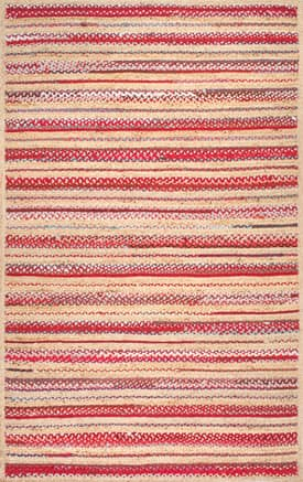Rugs USA KN01 Simple Braided Jute Stripes