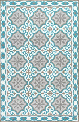 Rugs USA AIR25 Linked Snowflake Indoor/Outdoor