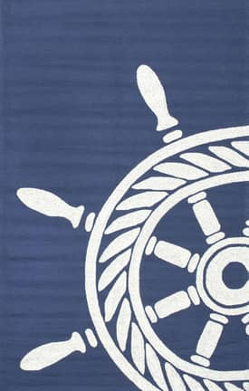 Rugs USA Nautical Wheel Indoor/Outdoor