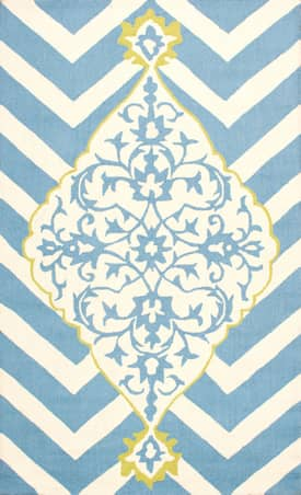Rugs USA Medallion on Chevron HK142
