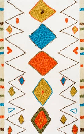 Rugs USA KZ06 Hand Tufted Central Diamonds Shag