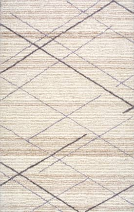 Rugs USA KZ07 Hand Tufted Diamond Trellis Shag