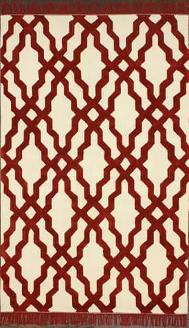Rugs USA Cotton Trellis VST13 with Fringes