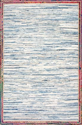 Rugs USA DS01 Handwoven Braided Border Denim Rag