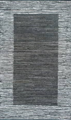 Rugs USA PC01 Handwoven Striped Border Solid