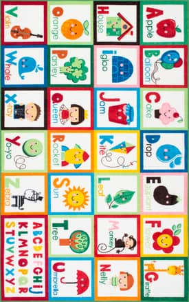Rugs USA Alphabet Block Cartoons GZ08